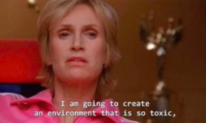 meme from glee about how karl is creating drama