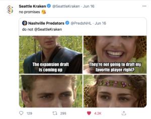 seattle kraken twitter, twitter, tweets, funny tweets