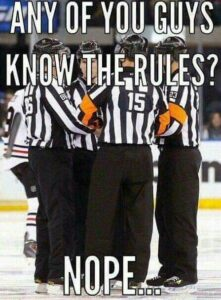 meme about how reffs are horrible and dont know the refs