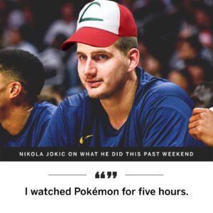 Nikola Jokic interview, Pokemon, Nikola Jokic watches Pokemon, NBA,