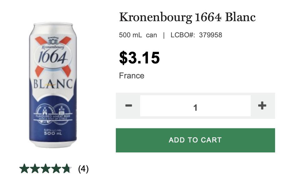 beer, 1664, summer, lcbo