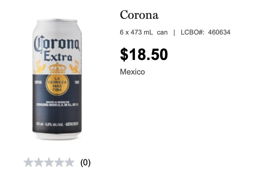 corona, beer, lcbo, summer