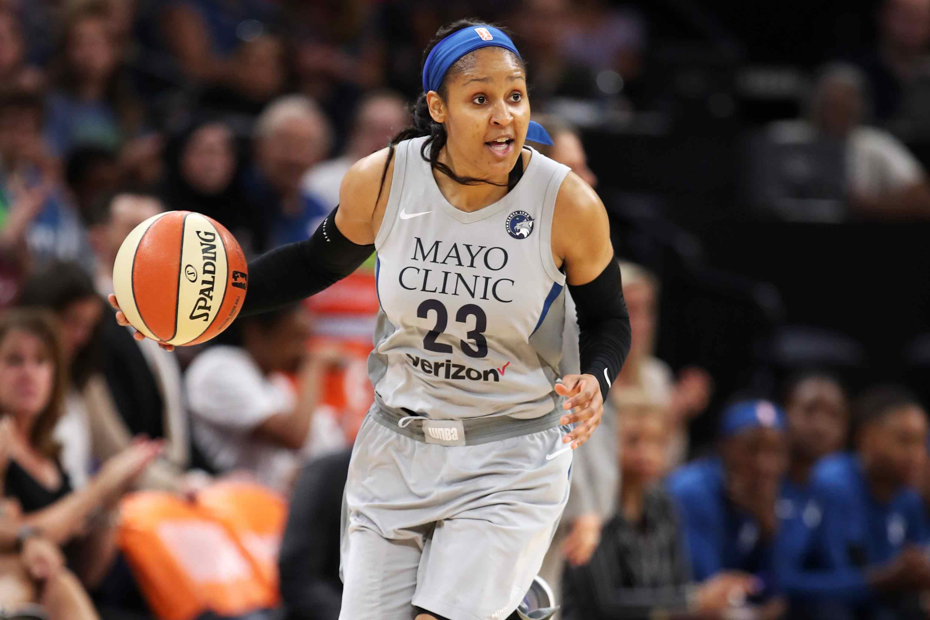 Maya Moore on the court