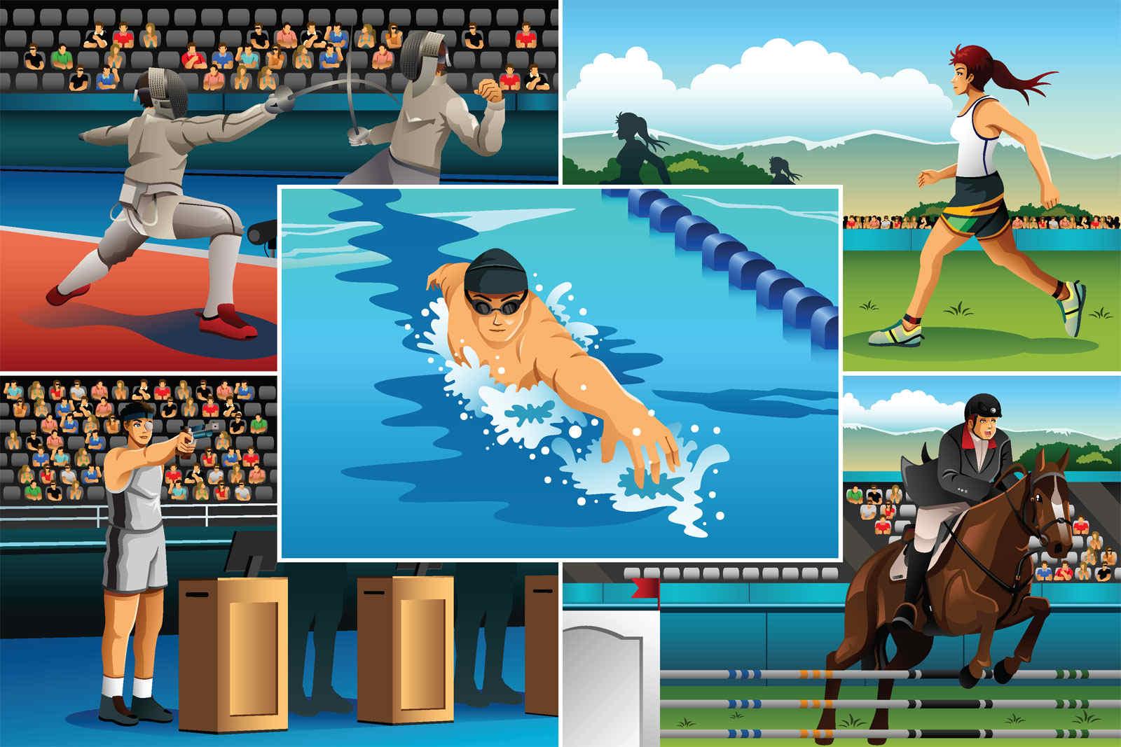 olympics, pentathlon
